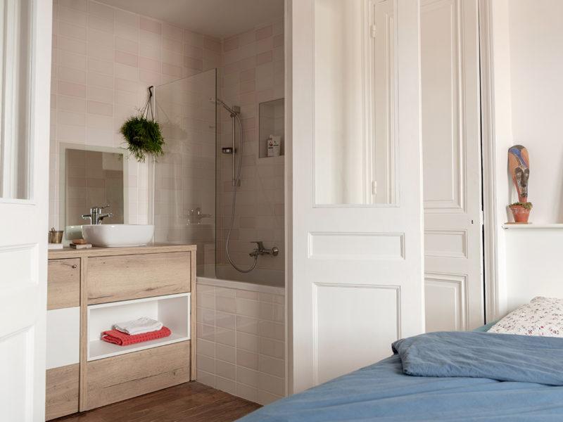 Rénovation Salle de bain dans une alvôve d'un appartement Haussmannien Lyonnais - LAYDOSTIAN