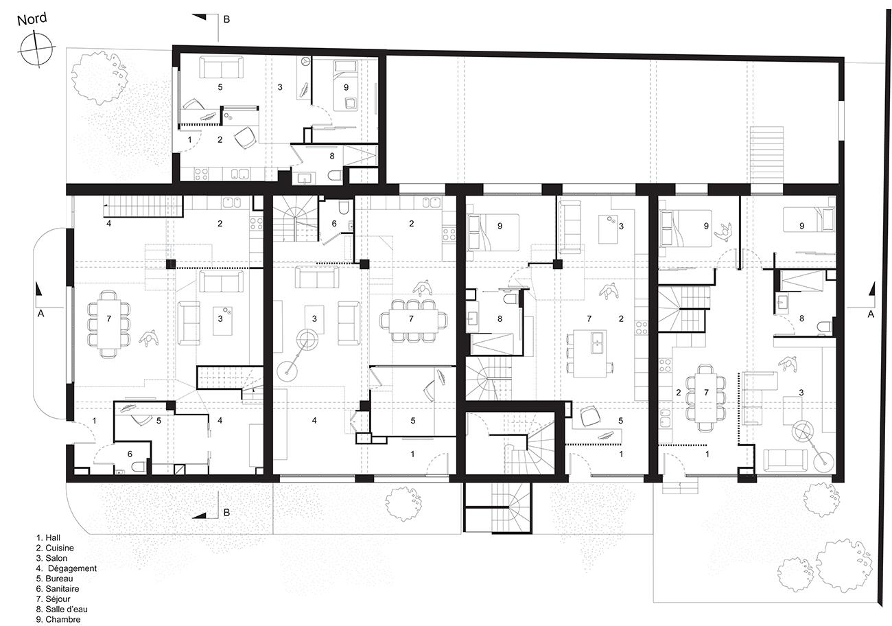 Grand loft Caluire LAYDOSTIAN ARCHITECTE
