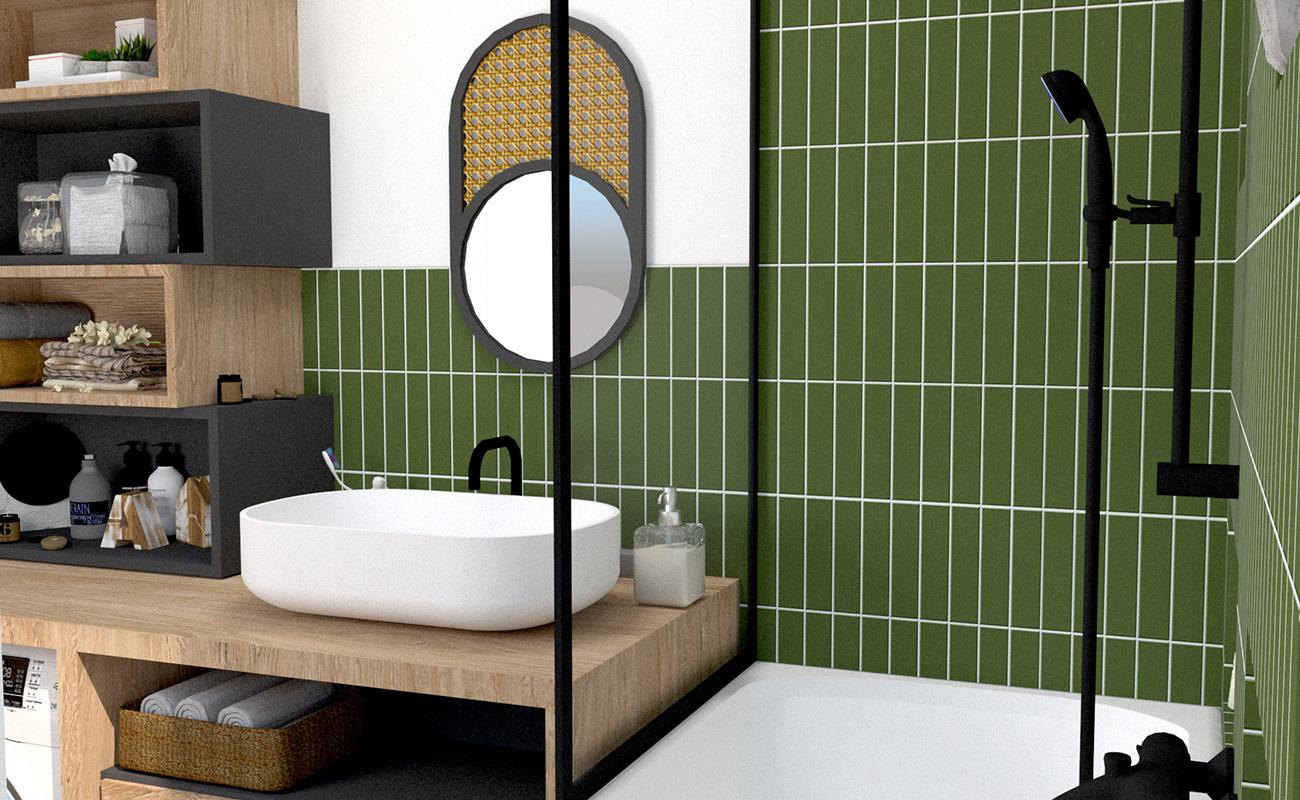 appartement cuisine salle de bain Lyon 7 LAYDOSTIAN ARCHITECTE